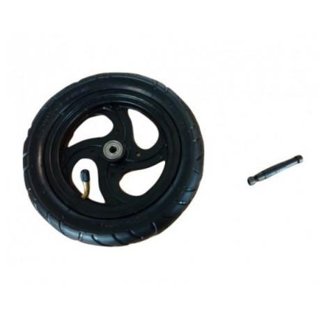 Roue gonflable V2 L'axe fournie permet de monter la roue sans aucune adaptation.