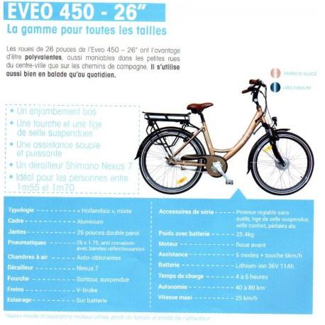 Vélo à assistance électrique EVEO 450 Présentation du modele 26''