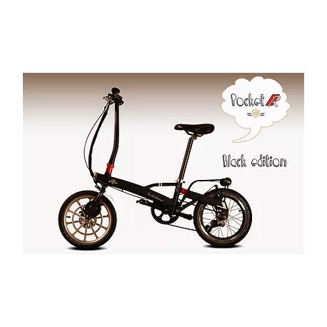 Vélo électrique V'lec Pocket R noir vu de profil