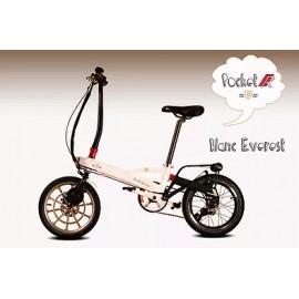 Vélo électrique V'lec Pocket R blanc vu de profil