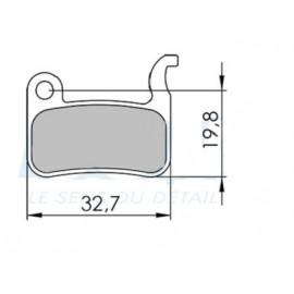 Plaquette de frein pour etrier semi hydraulique Xtech